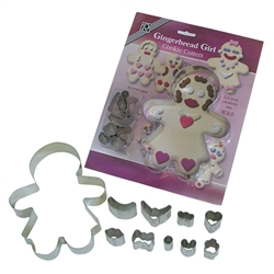 Gingerbread Girl Cookie Cutter Dress Up Set - 10 Pieces