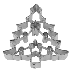 "Tree 3"" Cookie Cutter With Cut Outs"