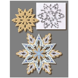 "Snowflake 7.5"" Cookie Cutter - Stainless Steel"
