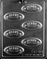Rowing Crew Oval Bar Chocolate Candy Mold with Exclusive Cybrtrayd Copyrighted Molding Instructions