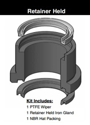 "051-KR010-250 / Rod kit with gland, 2-1/2"", retainer Held"