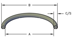 "O-RING, 1/16"" CROSS SECTION, NITRILE, 70 DURO"