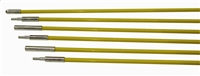 Fiberfish 1/4 Inch Diameter, 6 Foot Yellow Rod Kit