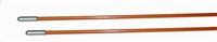 Fiberfish II 3/16 Inch, Plastic Coated, Orange Replacement Rod - 6 Foot Bullnose/Bullnose
