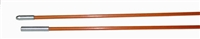 Fiberfish II 3/16 Inch, Plastic Coated, Orange Replacement Rod - 6 Foot Bullnose/Female