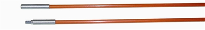 Fiberfish II 3/16 Inch, Plastic Coated, Orange Replacement Rod - 6 Foot Male/Female