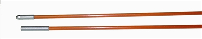 Fiberfish II 3/16 Inch, Plastic Coated, Orange Replacement Rod - 3 Foot Bullnose/Female