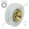 Two Replacement Shower Door Wheels -SDR-IMA-25mmv