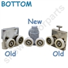 Two Replacement Shower Door Rollers-SDR-M5-B