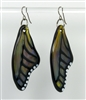 Sparkle Olive Butterfly Wing Earrings