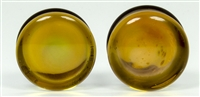 "22mm 7/8"" Gold Fumed Dome Plugs"