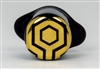 Gold Honeycomb Labyrinth Black Labret - 13mm 1/2""