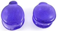 Translucent Purple Coin Dome Weights
