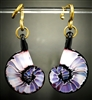 Violet Tie-Dye Ammonite Weights