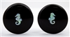 Seahorse Opals on Black Plugs