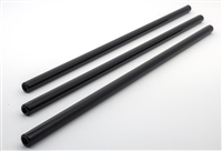 Straight Black Glass Straws
