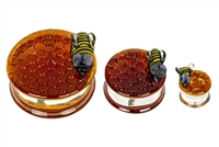 Honeycomb Textured Plugs Two Bees