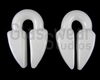 Large Jade White Keyhole Weights