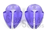 Small Translucent Purple Keyhole Weights