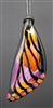 Amber Purple Butterfly Wing Pendant