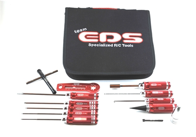 COMBO TOOL SET FOR NITRO CARS WITH TOOL BAG - 12 PCS.