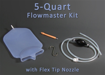 5 Quart Silicone Flowmaster Complete Colon Cleansing Enema Kit with Flex Tip Nozzle