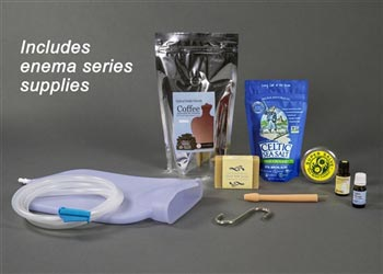 Silicone Coffee Enema Bag Kit & Flex Tip Nozzle