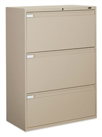"Global 3 Drawer 36""W  Lateral Filing Cabinet"