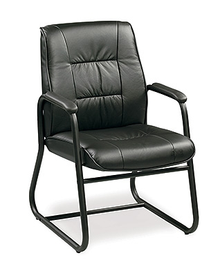 Black Leather Guest Chair