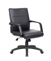 Boss Mid Back Executive Chair In Leatherplus