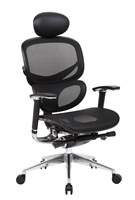 Boss Ergonomic Executive Mesh Chair W/ Head Rest