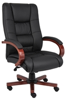 Boss High Back Executive Wood Finished Chairs