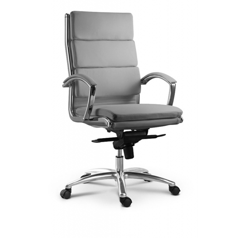 Livello cd 307h modern leather office chair stocked in for Modern leather office chairs