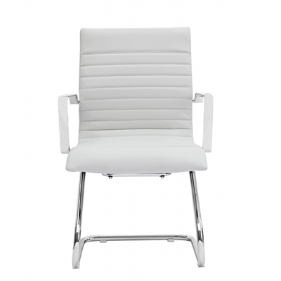 Zetti Black Grey Or White Leather Modern Guest Office