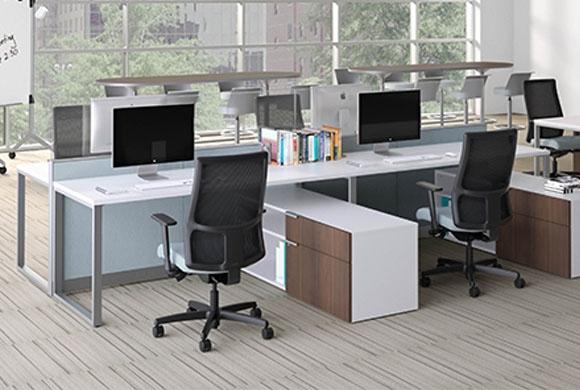 hon abound segmented tile modular cubicle desks from boca raton office furniture