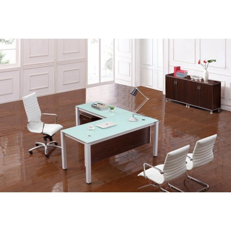 corp designs sling series glass top executive desks cd