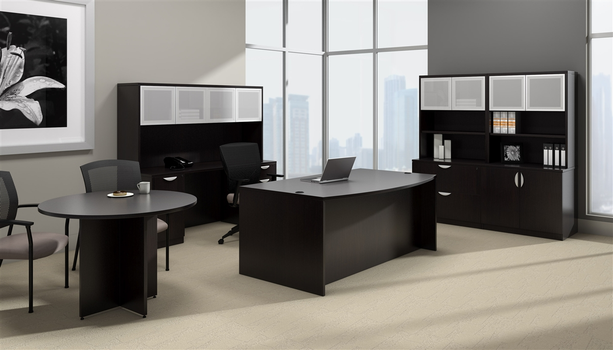 Offices to go otg desk made in american espresso ael at boca office furniture - New contemporary home office furniture style ...