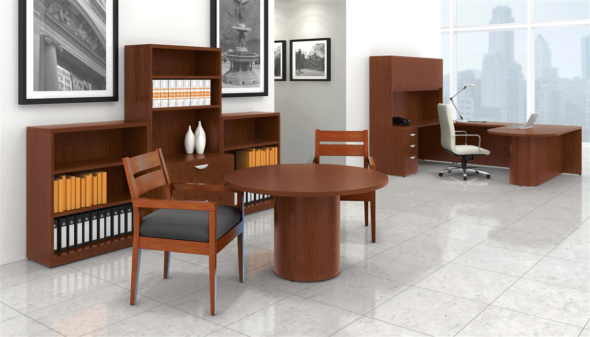 Wood Veneer Executive Desks From Boca Office Furniture