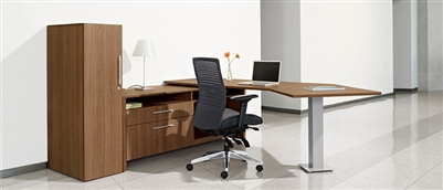 Global Princeton L Shape Desk From Boca Raton Office