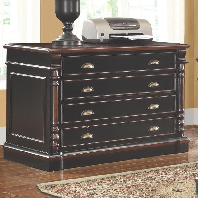 Beautiful And Ergonomic Home Office With Small Storage: Wood 2 Drawer Files And Lateral File Cabinets