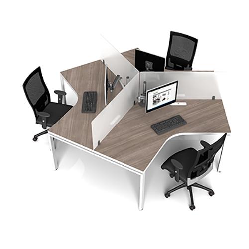 Benching System Desks At Boca Raton Office Furniture