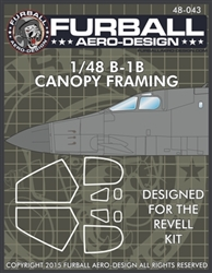 1/48 B-1B Canopy Seals for the Revell kit