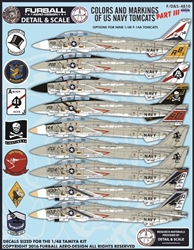 1/48 USN F-14 Tomcats Colors & Markings Part III