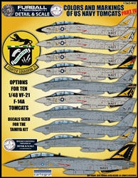 1/48 USN F-14 Tomcats Colors & Markings Part IV