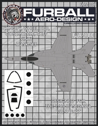 1/48 F/A-18E Vinyl Mask Set for the Hasegawa Kit