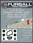 1/48 A-4E/F Vinyl Mask Set for the Hasegawa Kit