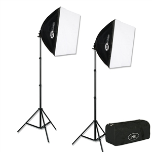 PBL 500w FLUORESCENT E-Z SOFTBOX KIT FOR PHOTO/VIDEO LIGHTING