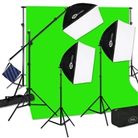 CONTINUOUS THREE LIGHT PBL E-Z SOFTBOX BOOM KIT FOR PHOTO/VIDEO LIGHTING