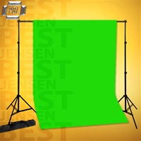 BACKDROP SUPPORT SYSTEM WITH CHROMAKEY GREEN MUSLIN