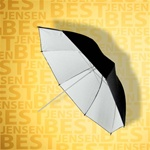 "32"" B/WHITE REFLECTIVE PHOTOGRAPHIC UMBRELLA"